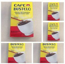 Cafe Bustelo Instant Espresso Coffee-Lot Of 5 Boxes-30 Packets Total