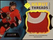 2012-13 UPPER DECK ULTIMATE COLLECTION  JAKOB SILFVERBERG DEBUT THREADS  #18/100