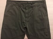 Calvin Klein Jeans Tapered Flight Pants Size 34x32 Cotton Army Dust Color