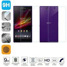 BACK + FRONT SONY XPERIA Z ULTRA XL39H GORILLA TEMPERED GLASS SCREEN PROTECTOR