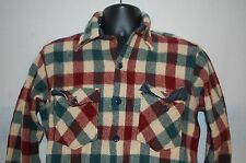 Vtg 60's Woolrich Mens Heavy Plaid Wool Hunting Shirt SHRUNK TO MEDIUM SMALL