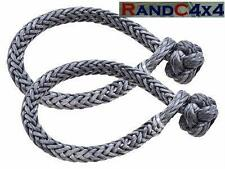 Dyneema Soft Rope Shackle Marlow Dynaline 5.8 Tonne Pair 4x4 Off Road Recovery