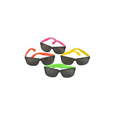 Assorted Plastic Neon Sunglasses (12 Pack) Party Novelty Sunglasses 1 Dozen