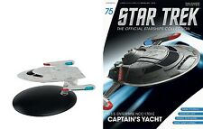 Eaglemoss Diecast Star Trek ST0075 Cousteau captain's yacht & MAGAZINE 75