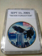 "SEPT 11, 2001 ""NEVER FORGOTTEN"" -  Commemorative Challenge Coin"