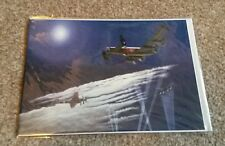 Aviation Art Cards - Encounter by Moonlight Blank Greetings Card (autographed)