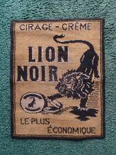 ANCIEN TAPIS PUBLICITAIRE JEU DE CARTE CIRAGE CREME LION NOIR