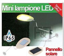 lampione led solare faro faretto applique ricaricabile 18LED crepuscolare 3Watt