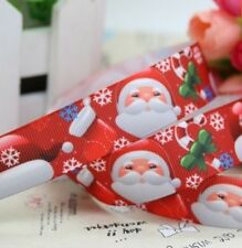 "2M 22mm 7/8"" SANTA FATHER CHRISTMAS GROSGRAIN RIBBON 99p CAKE PARTY XMAS"