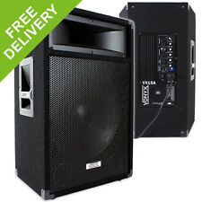 "Vonyx VX 15"" Inch Active PA Speaker DJ Disco Party Powered System 600W"