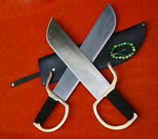 Wing Chun Bart Cham Dao/Handmade stainless steel blade/Leather scabbard/kung fu