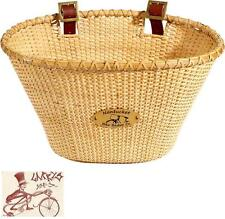 NANTUCKET LIGHTSHIP OVAL SHAPE NATURAL FRONT BICYCLE BASKET