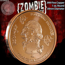 """George Walkerton"" Z-Note 1 oz .999 Copper Round ApocalypeZe Zombie Series"