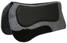 Black Contour Waffle Air Flow Shock Thick Grey Wool Felt Saddle Pad Built Up
