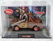 Disney Store Pixar Cars Mater With Headset Die Cast 1:43 Scale NEW Hard Case