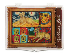 Yellow Labrador Magnets Set 6 Mini Masterpiece Collection Paw Palettes Dog Frame