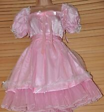 JOL 3 71 Gorgeous fluffy pink satin sissy dress,  1X size CD BN