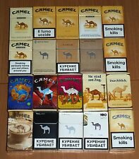 Camel Empty Cigarette Packs Various Countries Different Years - Lot 4