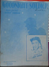 Goodnight Soldier - 1943 sheet music - Judy Canova photo on cover