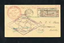 Zeppelin Sieger 64B 1930 South America flight to North Dakota. Rare.
