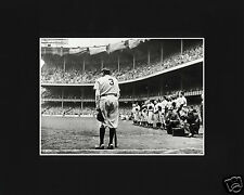 Babe Ruth Old Yankee Stadium Speech Black Matted Photo Picture
