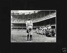 Babe Ruth Old Yankee Stadium Speech Black Matted Photo Picture