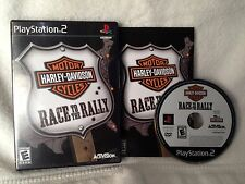 Harley Davidson Race to the Rally PS2 Playstation 2 Complete Ex Condition