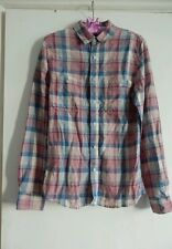 Womens  ASOS Checked Linen Cotton Shirt Size XS