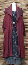 *BELLA BLUE*COTTON BLEND BEAUTIFUL LOVELY 2 POCKETS JACKET/COAT*MAROON*Size L-XL