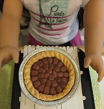 Miniature Dollhouse Pecan Pie 1:3 scale ag doll food fake bjd thanksgiving 18 in