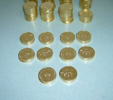 50 GOLDEN SLOT MACHINE TOKENS - NEWLY MINTED DOLLAR SIZE