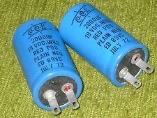 Radio/Electronics/Amplifier.  2 - CCL Capacitors. 2000 MFD.  NOS.