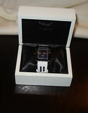 Aquaswiss Tanc G Watch White strap, black dial, and IP black case NEW