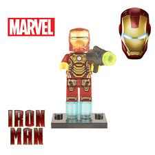 Iron Man custom minifigure Marvel superhero set Avengers Lego fittable building