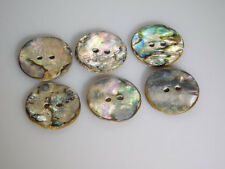 Abalone Buttons 25mm (Set of 6 Mother of Pearl Antiques) Handmade Sewing Crafts