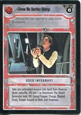Star Wars CCG Endor Card Throw Me Another Charge