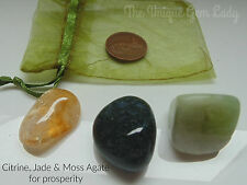Prosperity Money Blend Tumblestone Stone Gift Set ~ Gemstone Crystal Healing