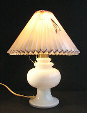 HOLMEGAARD MONIQUE GLASS TABLE LAMP WITH SHADE ROYAL COPENHAGEN 1982 Modern