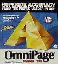 OmniPage 10 Pro PC CD convert image into text OCR document scanning program tool