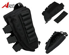 1000D Rifle Shotgun Stock Shell Ammo Pouch Bag Right Hand Tactical Military BK