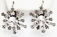 KIRKS FOLLY ~~ NEVER RELEASED~~ POLAR EXPRESS SNOWFLAKE LEVERBACK EARRINGS  ST