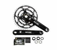 KCNC XC1 Mountain Bike MTB Crankset Chainset 9 Speed 44/32/22T ISIS 165mm Black