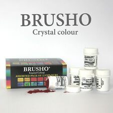 Brusho Cristal Peinture Couleurs Assorties Paquet de 12 15g pots