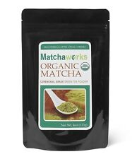 Matchaworks Matcha Green Tea Powder Ceremonial Grade Raw Organic, 4 Ounce