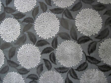 "SANDERSON CURTAIN/UPHOLSTERY FABRIC DESIGN ""Ceres Velvet"" 2.5 MTRS CHARCOAL/CLAY"