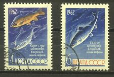RUSSIA 1962; FISH PRESERVATION IN USSR;COMPLETE SET OF 2;SC # 2632-2633;USED,CTO