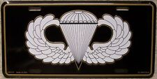 Aluminum Military License Plate U S  Army Airborne NEW