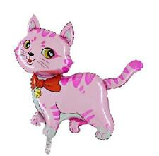 "44"" Pink Cat with Bow and Bell Foil Helium Balloon (CS9)"
