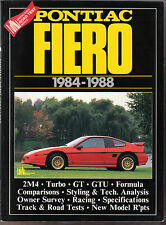 Pontiac Fiero 1984-1988 Road Test Book 2M4 Turbo GT GTU Racing Surveys Specs. +