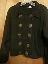 Womens Med. Tribe a people united Nepal 100%cotton black jacket gently worn